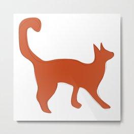 Orange is the new cat Metal Print