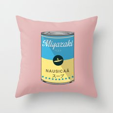 Nausicaa - Miyazaki - Special Soup Series  Throw Pillow