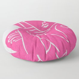 Pretty in PINK TATTOO - Painting by Erod Floor Pillow