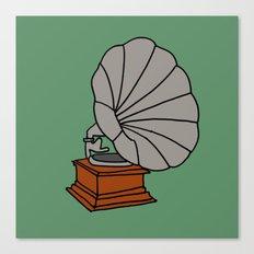 Grammophone Canvas Print