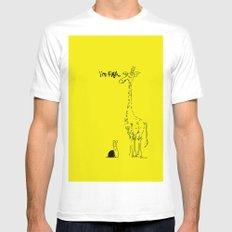 High Giraffe Mens Fitted Tee MEDIUM White