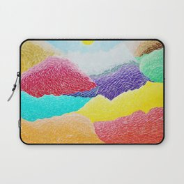 The Creation Of The Mountains by God in Jewel Tones landscape painting by Ariel Chavarro Avila Laptop Sleeve