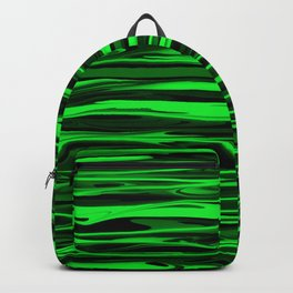 Lime Green and Black Stripes Backpack