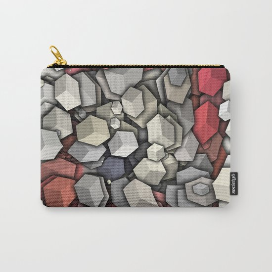 Chaotic 3D Cubes Carry-All Pouch