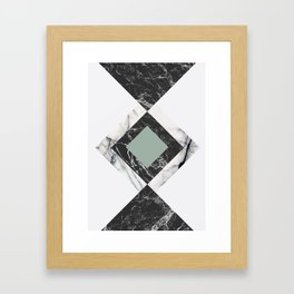 Green Marble Framed Art Print