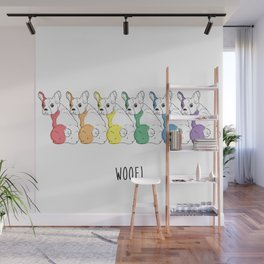 Rainbow Pups- Woof! Wall Mural