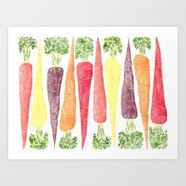 Rainbow Carrots (Wide) Art Print
