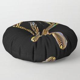 9925S-JPC Kneeling Art Nude Abstract Color Flow Graphic Striped Line Floor Pillow