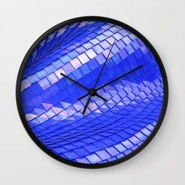 Blue dragon skin Wall Clock
