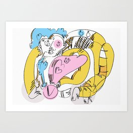 Figure with Bend Art Print