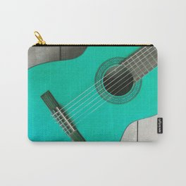 Teal Guitar Carry-All Pouch