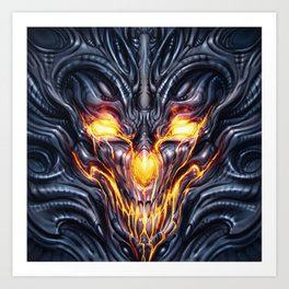 Biomechanical Demon Art Print