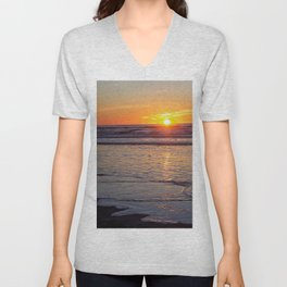 Sunrise over the Atlantic Unisex V-Neck
