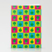 popart Stationery Cards featuring Popart Broccoli by XOOXOO