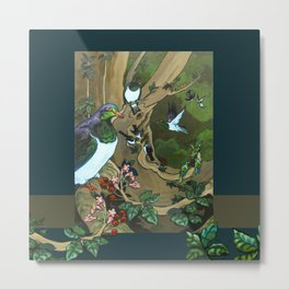 Pigeons, Parakeets and Fantails Metal Print