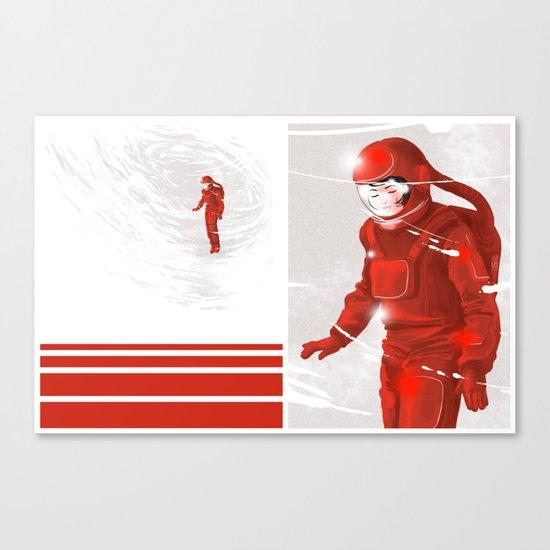 Hiroko in Storm // (astronaut girl) Canvas Print