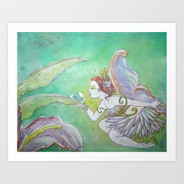 Dew Drop Garden Fairy Art Print