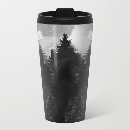 Winter Darkness Metal Travel Mug
