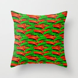 Chili Hot Peppers Throw Pillow