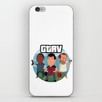grand theft auto iPhone & iPod Skins featuring Grand Theft Auto V Cartoon by Aaron Lecours