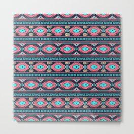 Southwestern ethnic navajo pattern Metal Print