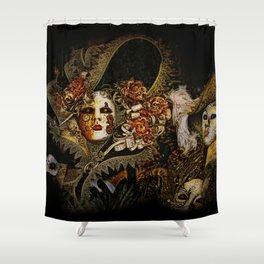 Baroque Venetian Halloween Shower Curtain