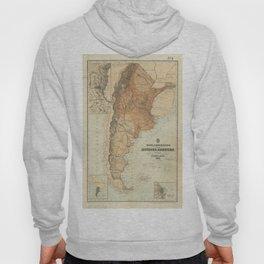 Vintage Map of Argentina (1882) Hoody
