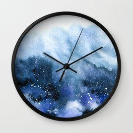 Oceanic Bloom Wall Clock