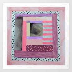 Dots and Stripes  Art Print