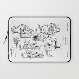 Santa Claus Bank Support Patent Drawing From 1953 Laptop Sleeve