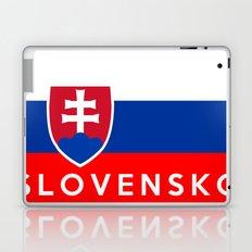 slovakia country flag Slovensko name text Laptop & iPad Skin