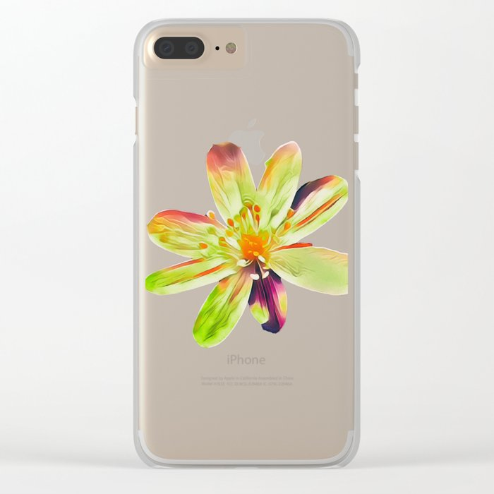 Morning in the garden Clear iPhone Case