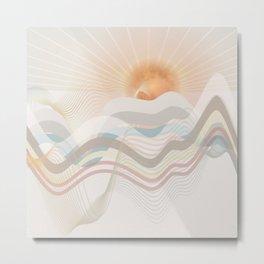 Winter Ocean Metal Print