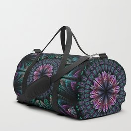 Magical dream flower, fractal abstract Duffle Bag