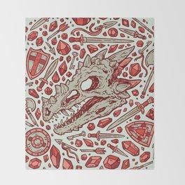 Hoard of the Gem Dragon   Ruby Throw Blanket
