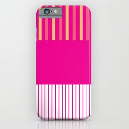 Colour Pop Stripes - Hot Pink iPhone Case