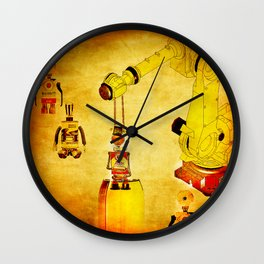 Oiling of robots Wall Clock