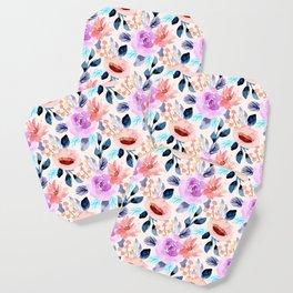 Beautiful Floral Watercolor Pattern Coaster
