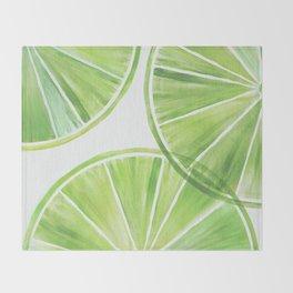 Fresh Lime ~ Summer Citrus Throw Blanket