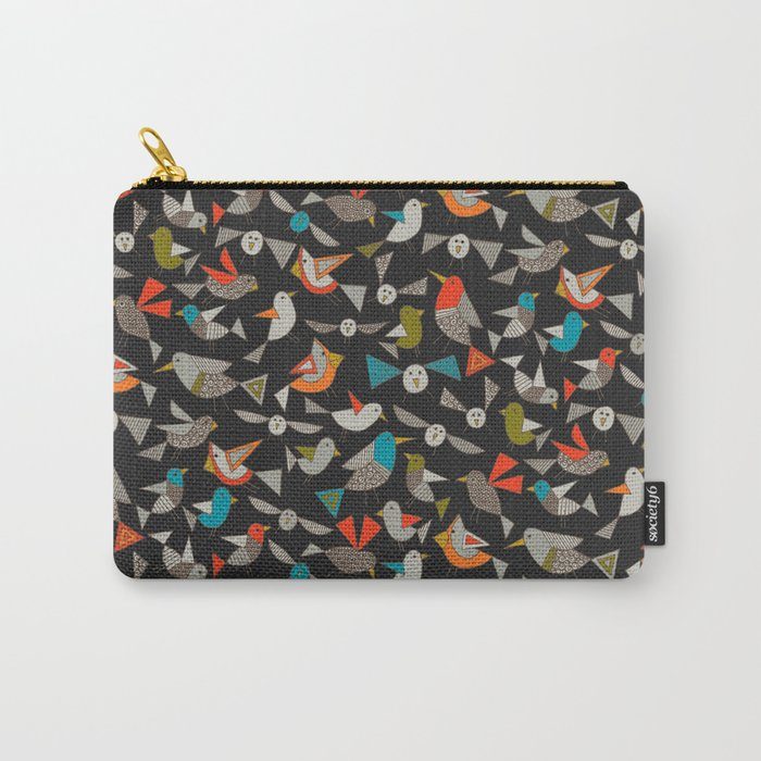 just birds dark Carry-All Pouch