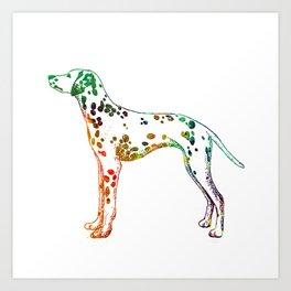Watercolor dalmatian Art Print