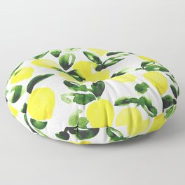 Summer Lemons Floor Pillow