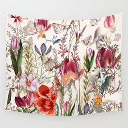 Bright spring field. Romantic pattern Wall Tapestry