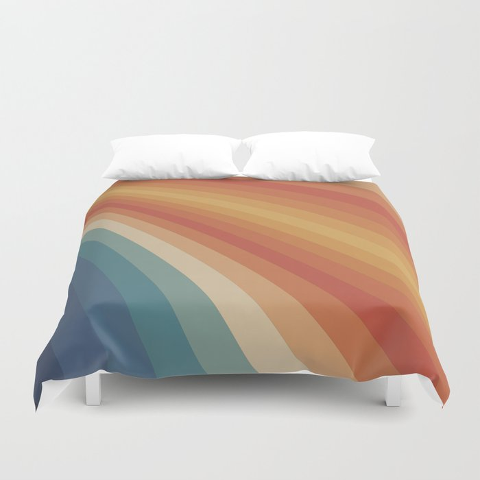 Retro 70s Sunrays Duvet Cover