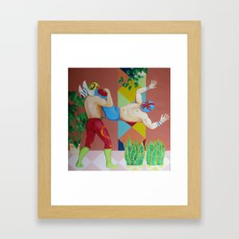 Huracanrana in the greenhouse Framed Art Print