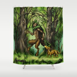 The Faun Shower Curtain