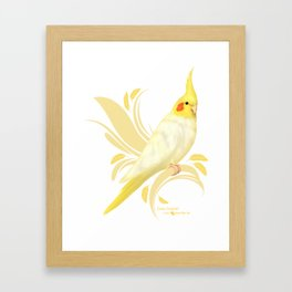 Lutino Cockatiel Framed Art Print