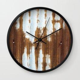 Rusted Corrugated Tin rustic decor Wall Clock