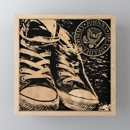 Ramones Shoes Framed Mini Art Print