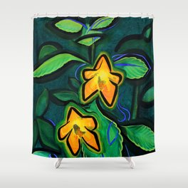 Orange Jewelweed 2.0 Shower Curtain